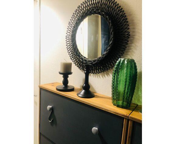 Miroir rotin 49cm