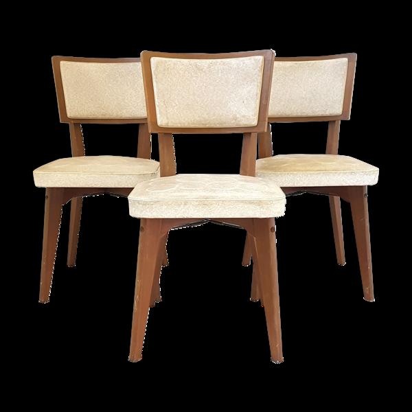 Suite de 3 chaises vintage
