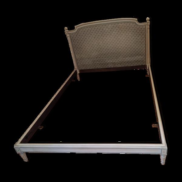 Cadre de lit en bois tête de lit en véritable velours de Gênes