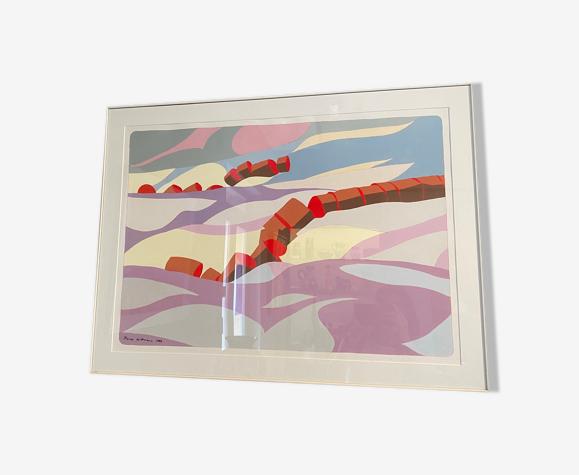 Peinture des années 80 de l'artiste Pierre Wittmann