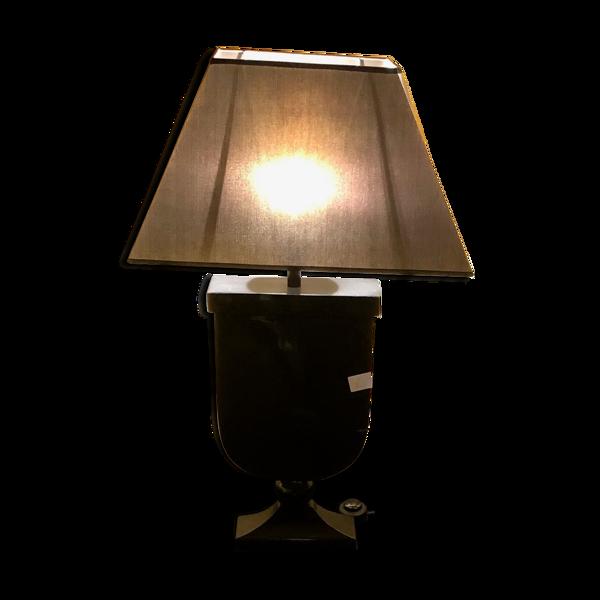 Lampe noire laquée