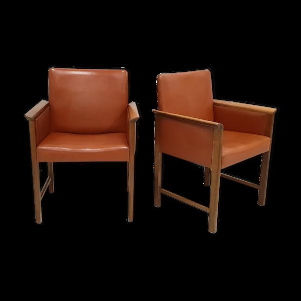Selency Paire de fauteuils de Hans Olsen pour CS Mobler Glostrup