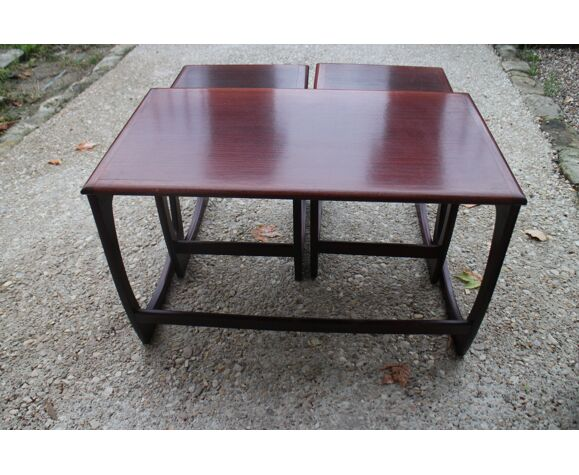Sunelm teak pull-out tables