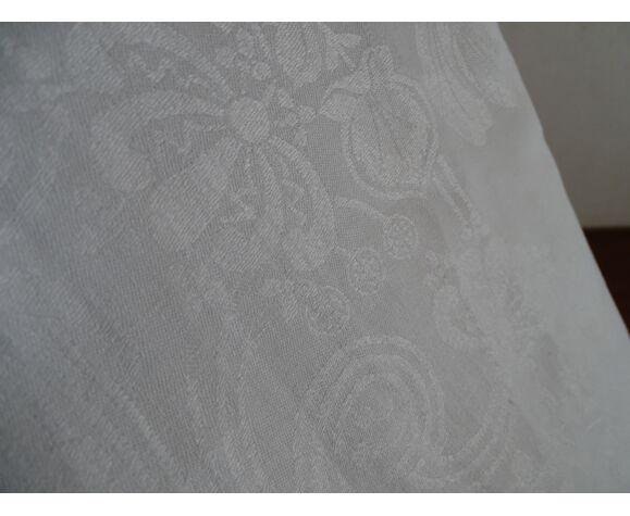 Nappe coton damassé 269x152cm ancienne