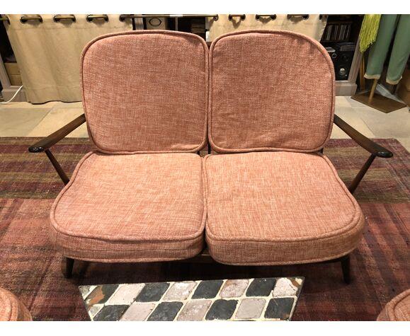 Canapé 2 places et ses 2 fauteuils