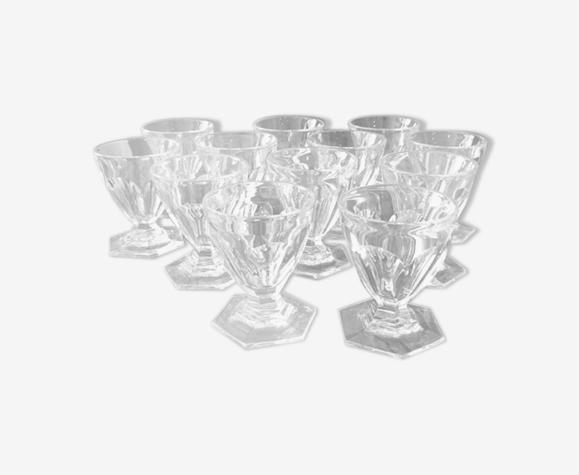 Suite de 12 verres à porto baccarat modèle Harcourt