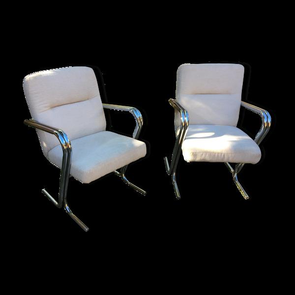 Paire de fauteuils, années 1970