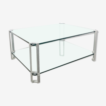 Glass Waterfall Coffee Table By Angelo Cortesi For Fiam 1980s Selency