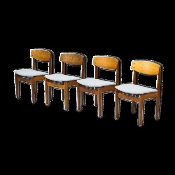 Selency Chaises de salle à manger Modèle 78 en chêne par Jørgen Baekmark pour FDB, 1950s, Set de 4