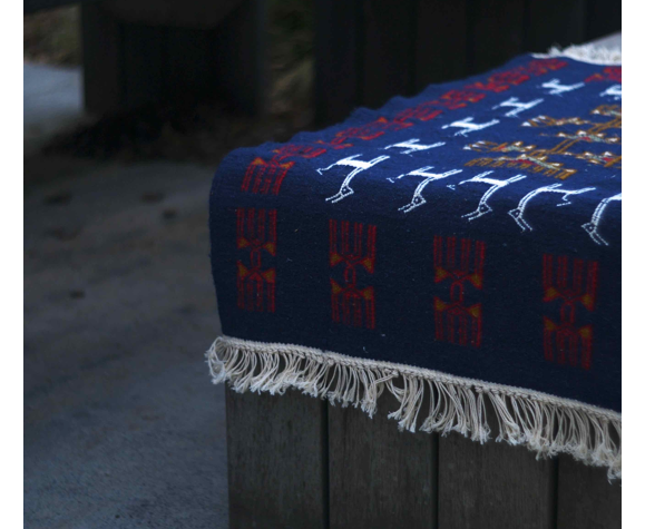 Tapis kilim berbère bleu 100x60cm