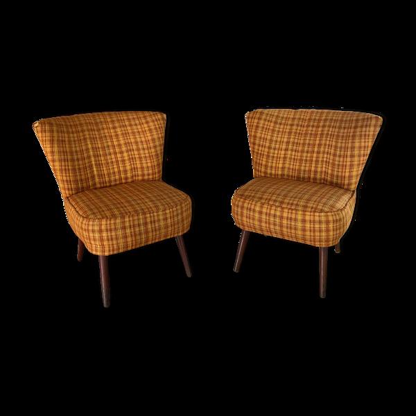 Paire de fauteuils Möbelstoff vintage - 1960