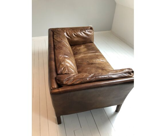 Canapé cuir marron