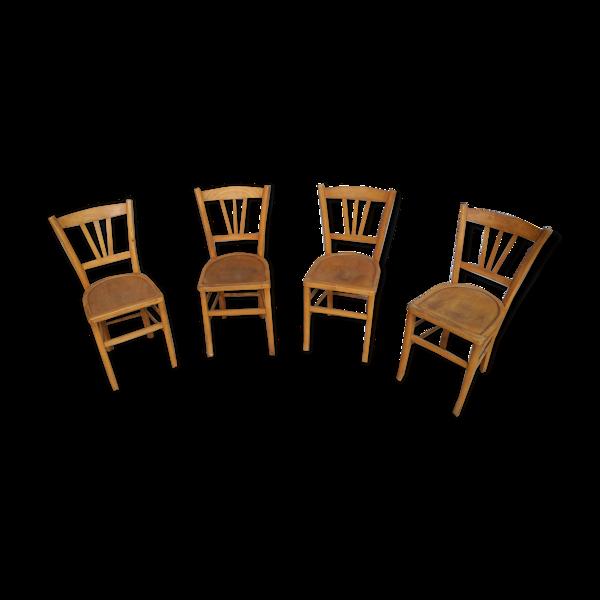 Lot de 4 chaises vintage bistrot