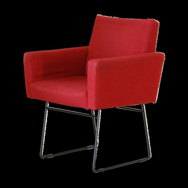 Selency Fauteuil rouge vintage des années 1970