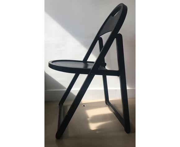 Chaise pliante noire