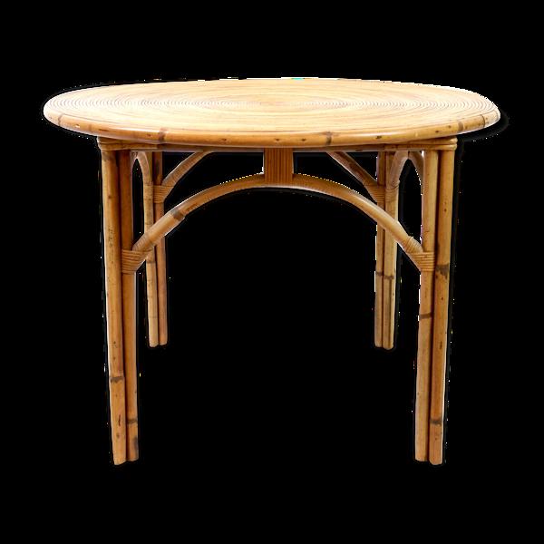 Selency Table à manger en bambou 1950