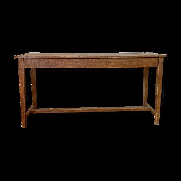 Table Console 2 tiroirs en chêne