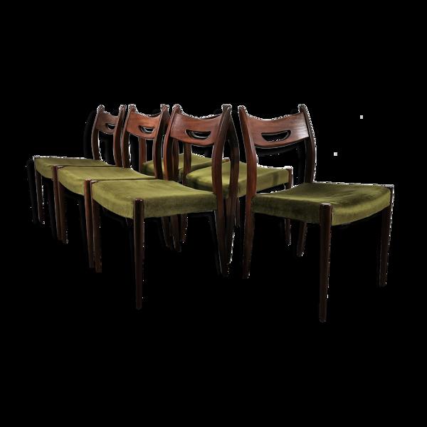 Selency Ensemble de chaises à manger en teck vintage
