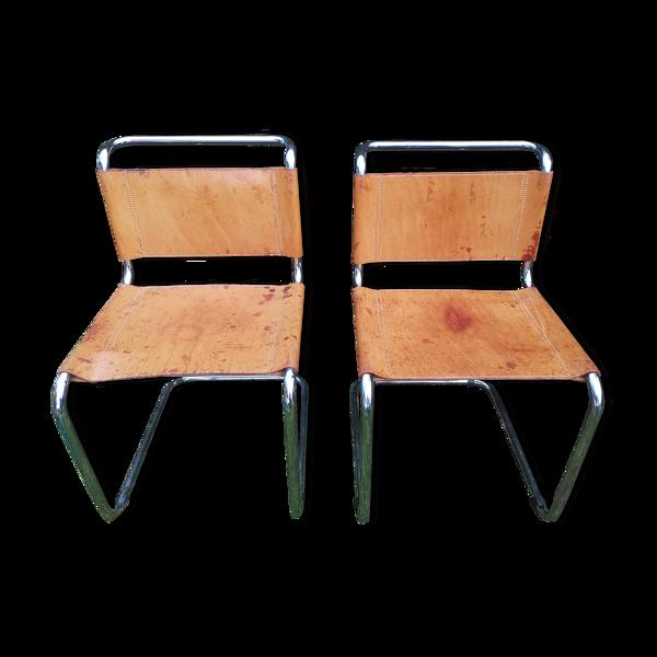 Selency Lot de 2 chaises Marcel Breuer modèle b33