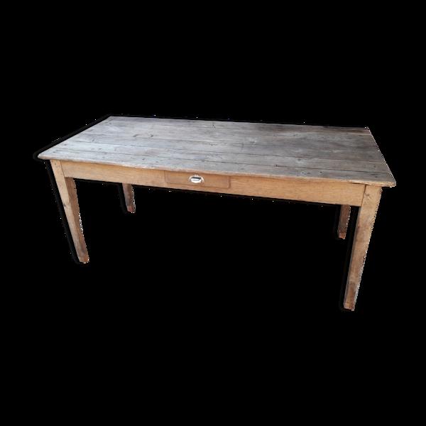 Table de ferme rustique 166 cm
