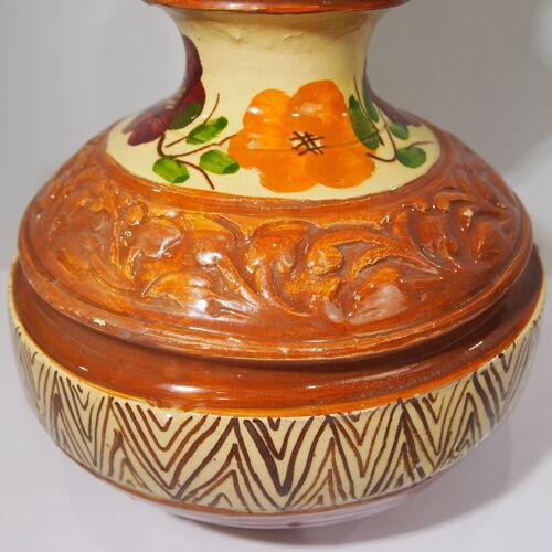 Cruche en terre cuite vernissée gargoulette vintage