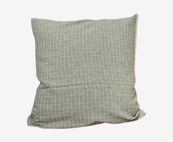 Coussin en coton vert kaki 40 cm
