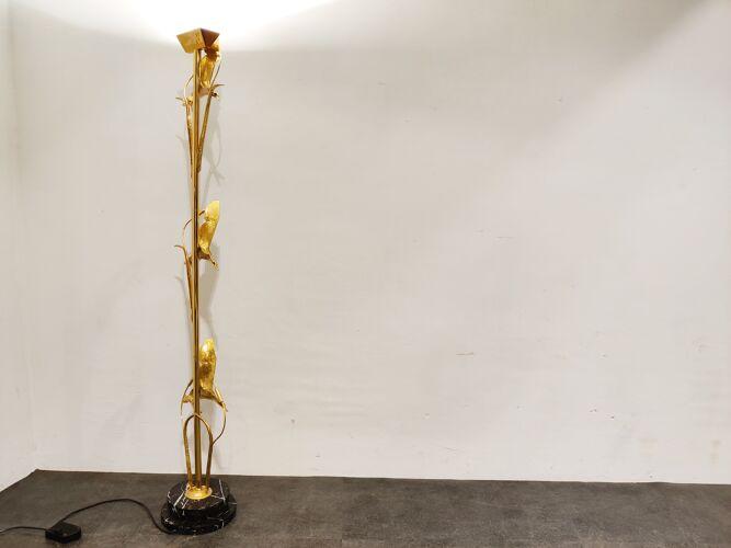 Lampadaire en laiton de L. Galeotti pour L'originale, années 1970