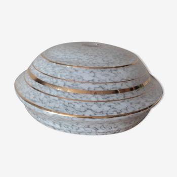Globe en verre nuagé art deco