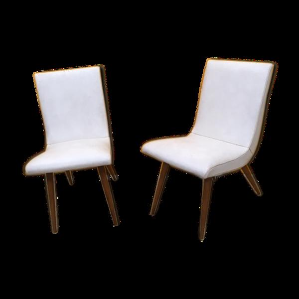 Paire de chaises Stella d'époque 1950 modéle Pallee