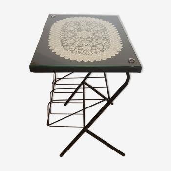 Table d'appoint porte vinyle