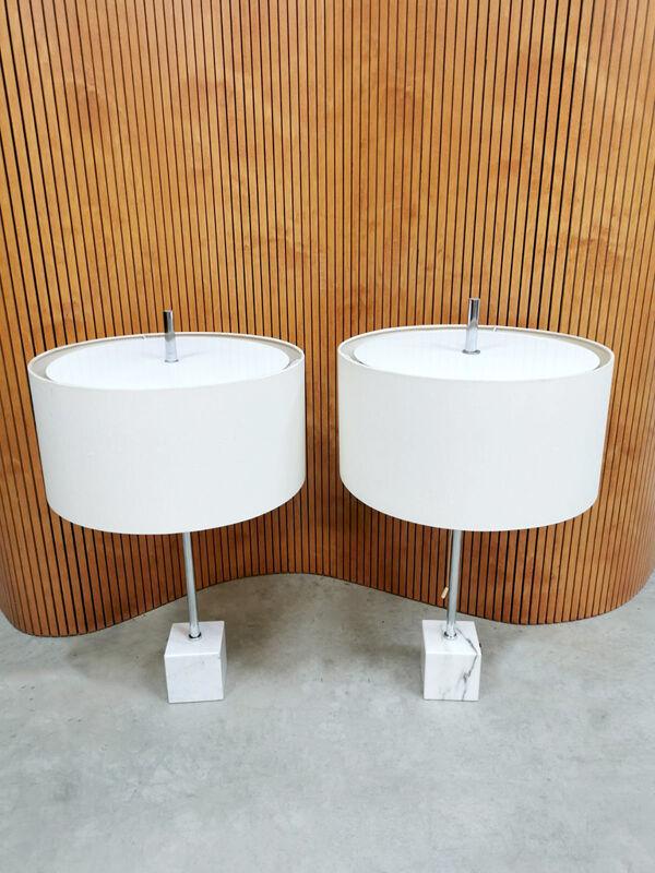 Ensemble de 2 lampes de table hollandaises Raak Amsterdam