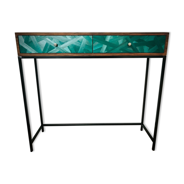 Console Noyer/marqueterie