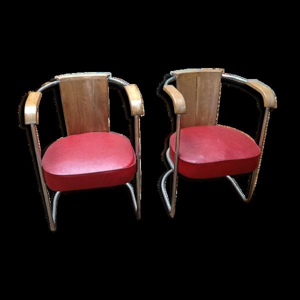 Paire de fauteuils Bauhaus année 39