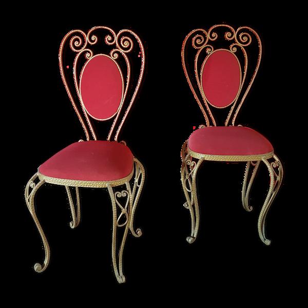Paire de chaises en fer