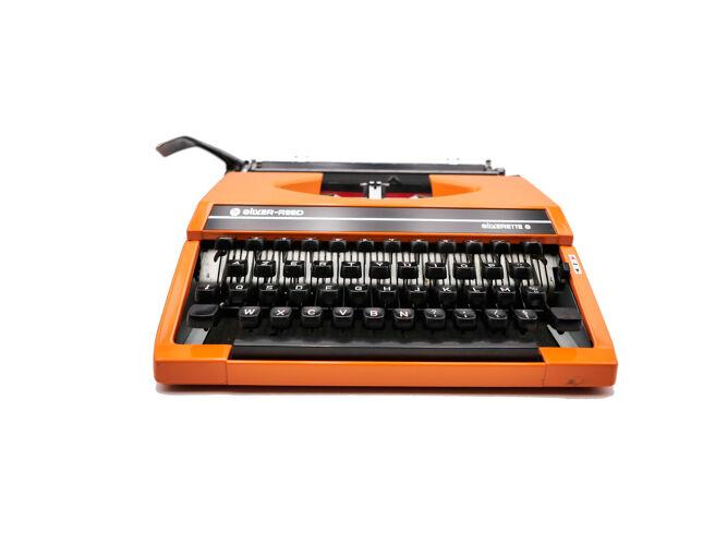 Machine à écrire Silver Reed Silverette S Orange révisée ruban neuf