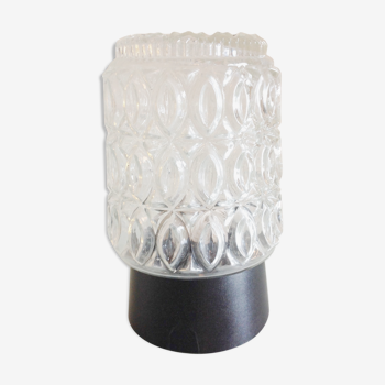 Plafonnier en verre structuré par RZB Leuchten vintage années 60/70