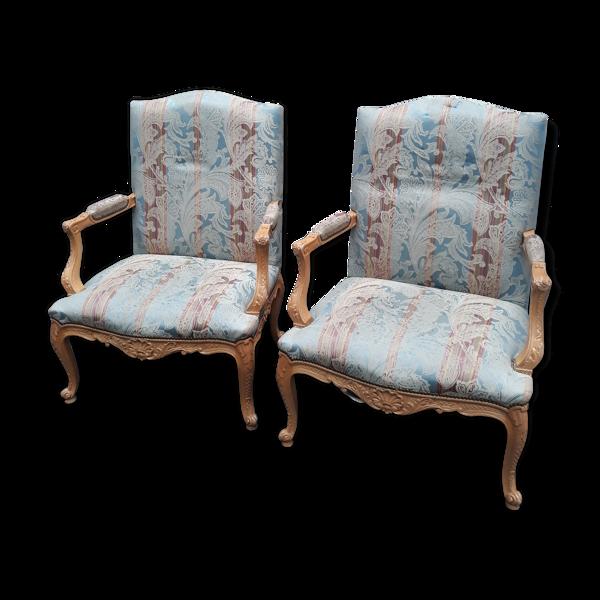 Paire de fauteuils style L'XV