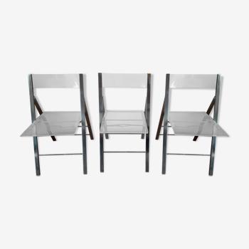 Chaises pliantes steel