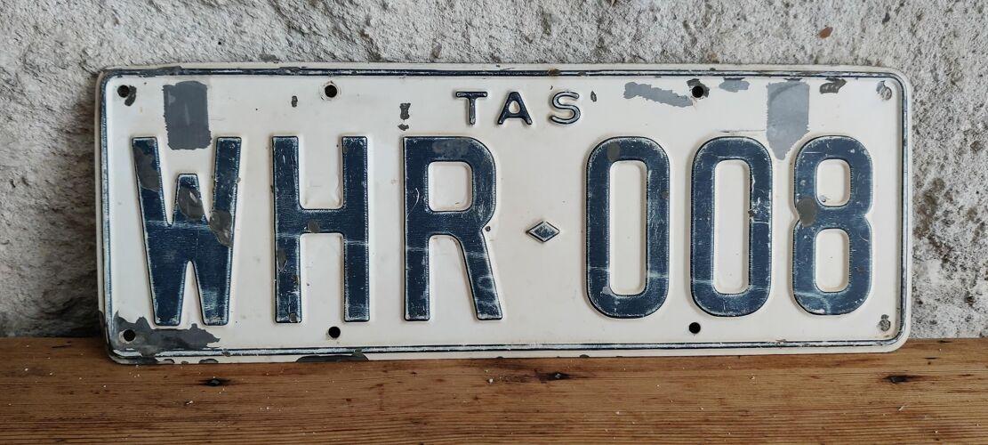 Plaque immatriculation de la Tasmanie