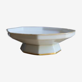Compotier octogonal porcelaine Limoges France