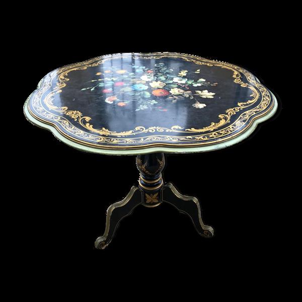 Selency Table ronde à plateau basculant Napoléon III