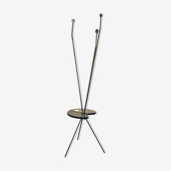 Lampadaire vintage en métal et contreplaqué - 1960