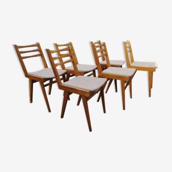 Serie de 6 chaises vintage