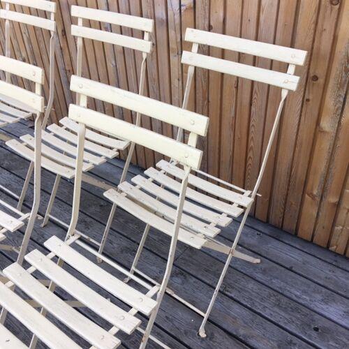Lot 6 chaises jardin pliante square