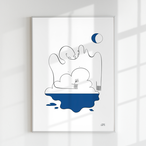 """Illustration n°10 """" Baignade nocturne """" collection """" L'éveil """""""