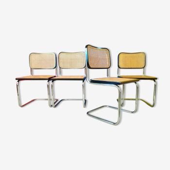 Série de 4 chaises B32, design Marcel Breuer