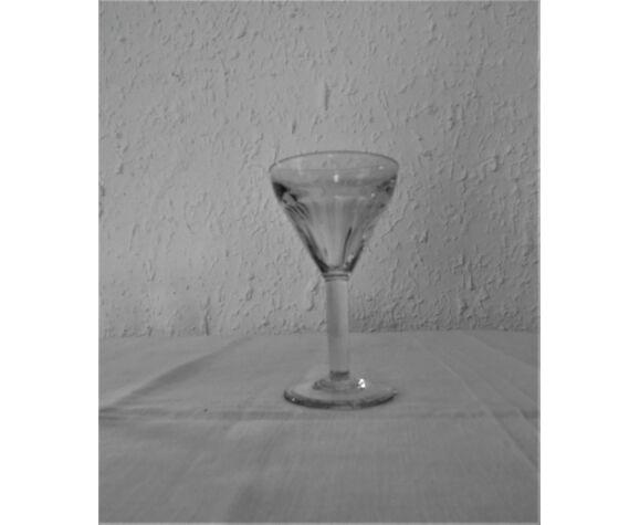 4 verres anciens bistrot verre bullé épais