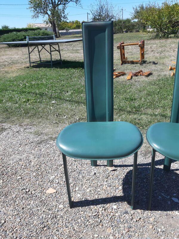 6 chaises vintage cattelan italia des années 70