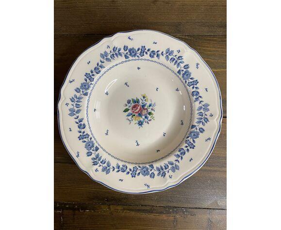 Set de 6 assiettes motifs fleurs