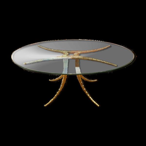 Table design Alain Chervet 1981 bronze dining table